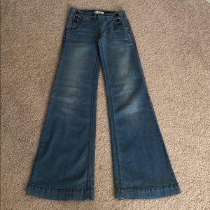 Free people wide leg jeans